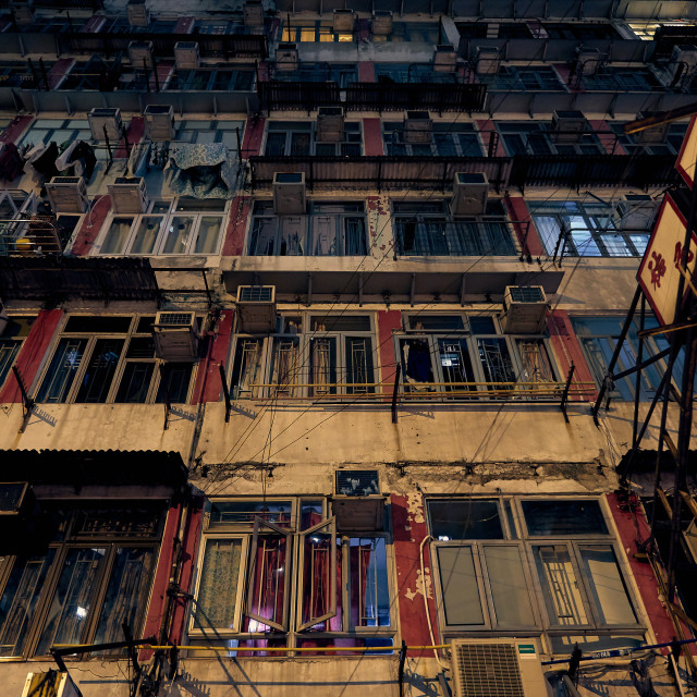 """Working class residential apartments in Hong Kong"" stock image"