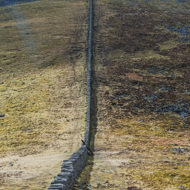 """""""Mourne Wall 1"""" stock image"""