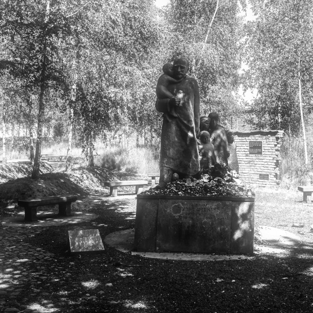 """Janusz Korczak monument"" stock image"