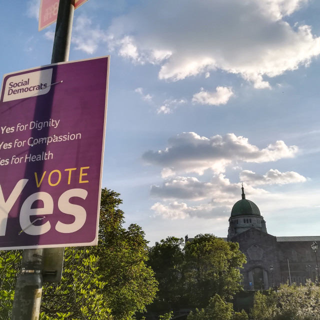 """Vote Yes"" stock image"