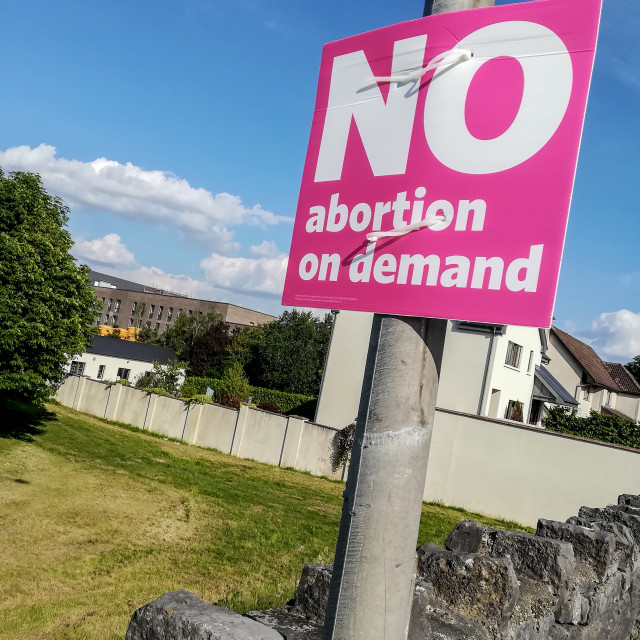 """No abortion on demand"" stock image"
