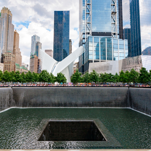 """911 Memorial (Straight)"" stock image"