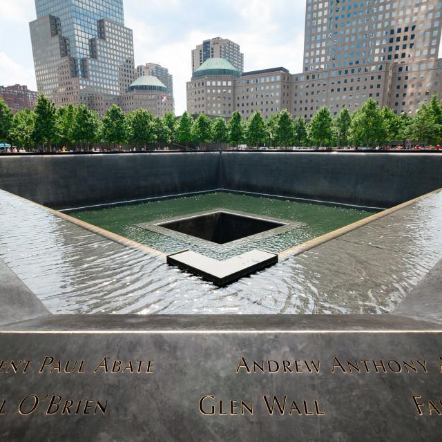 """""""911 Memorial (Angle)"""" stock image"""
