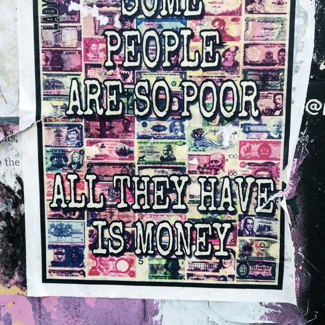 """Some people are so poor..."" stock image"