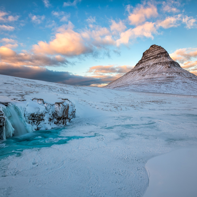"""Winter Magic at Kirkjufell"" stock image"