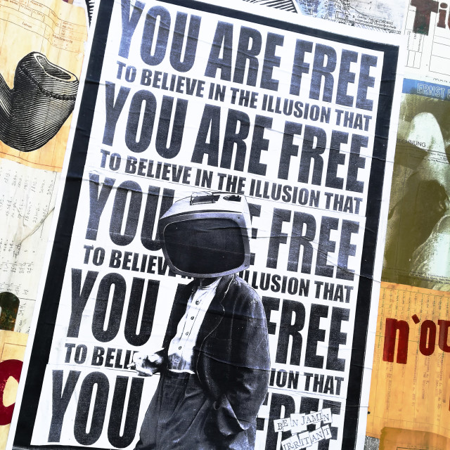 """You are free..."" stock image"