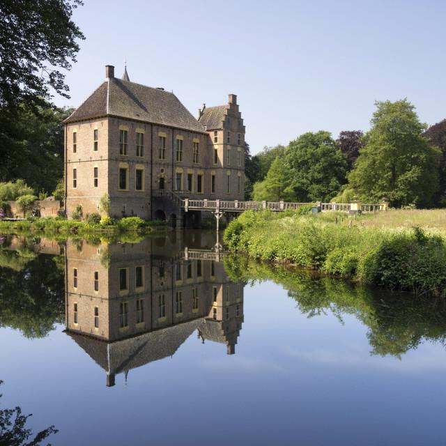 """Reflection Vorden castle"" stock image"
