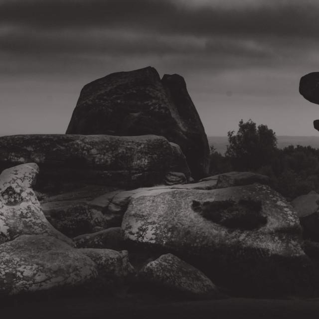 """Brimham Rocks Panorama"" stock image"