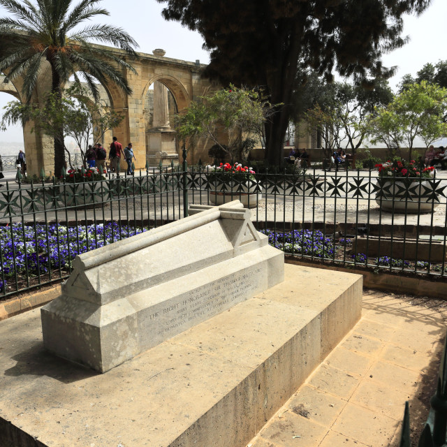 """""""Thomas Maitland Memorial, Upper Barracca Gardens, within St Peter & Paul..."""" stock image"""
