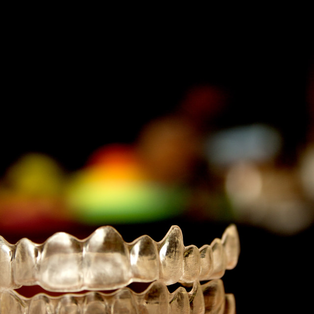 """Transparent dental correction orthodontics"" stock image"