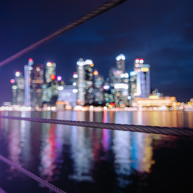 """Leading line Bokeh City Lights"" stock image"
