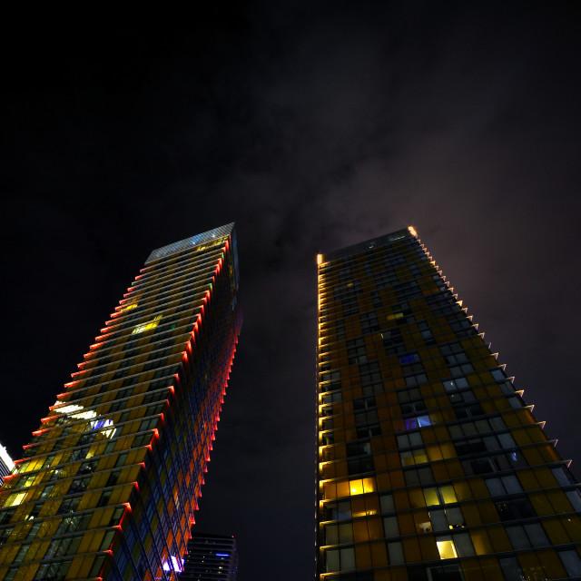 """Skyscrapers in Las Vegas, Nevada."" stock image"