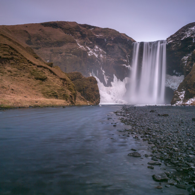 """Winter Skogafoss"" stock image"