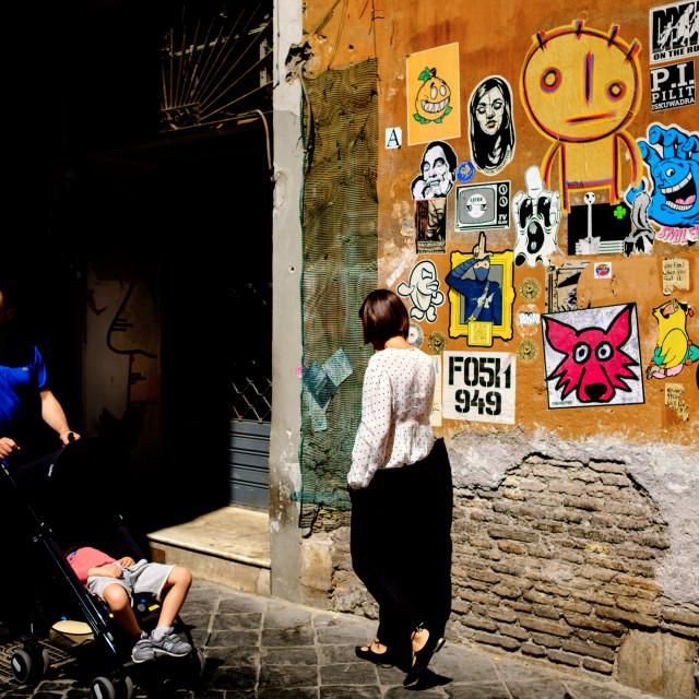 """Street scene Rome 2018"" stock image"