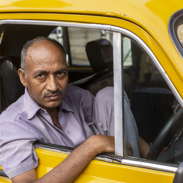 """Cab Driver"" stock image"