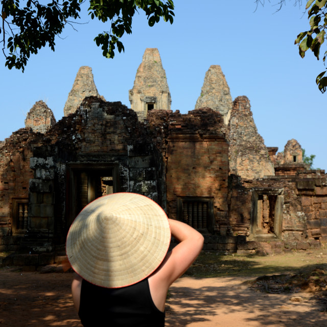 """""""CAMBODIA SIEM REAP ANGKOR PRE RUP TEMPLE"""" stock image"""