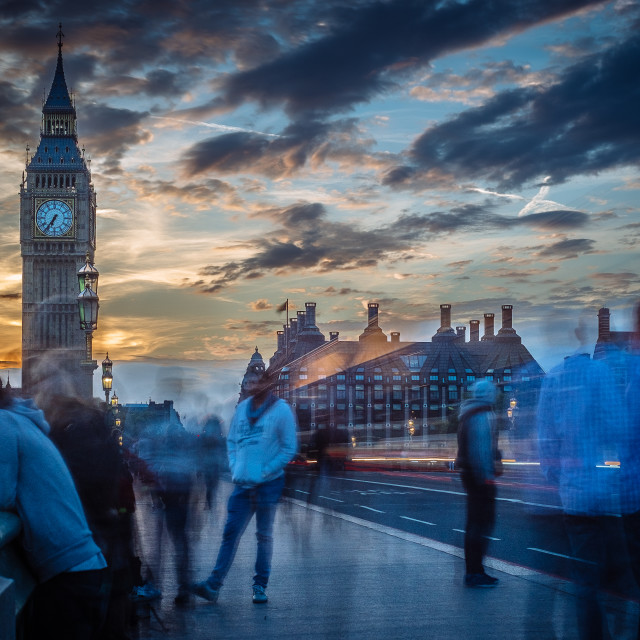 """Big Ben sunset"" stock image"
