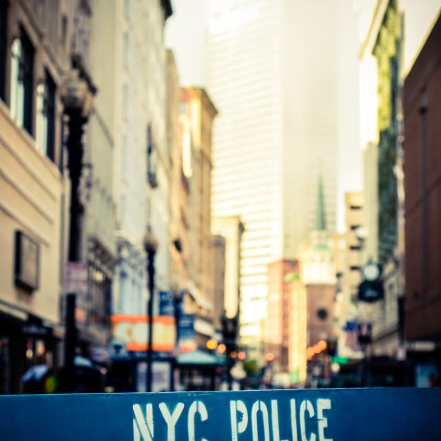 """Retro NYC Crime Scene"" stock image"