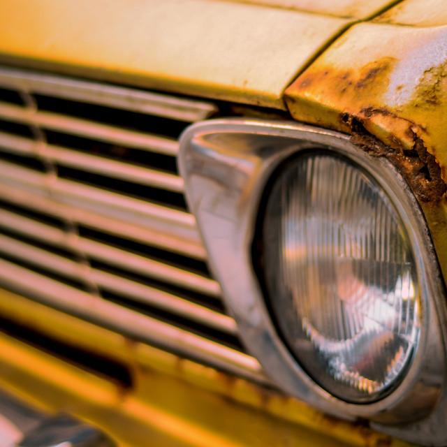 """Retro Style Vintage Rusty Car"" stock image"
