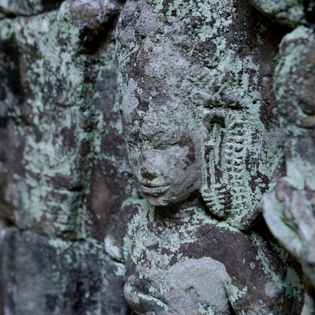 """""""CAMBODIA SIEM REAP ANGKOR BANTEAY KDEI TEMPLE"""" stock image"""