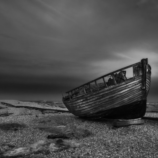 """Decay At Dungeness"" stock image"
