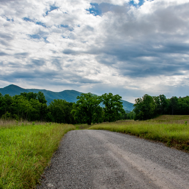"""Mountain Gravel Road"" stock image"
