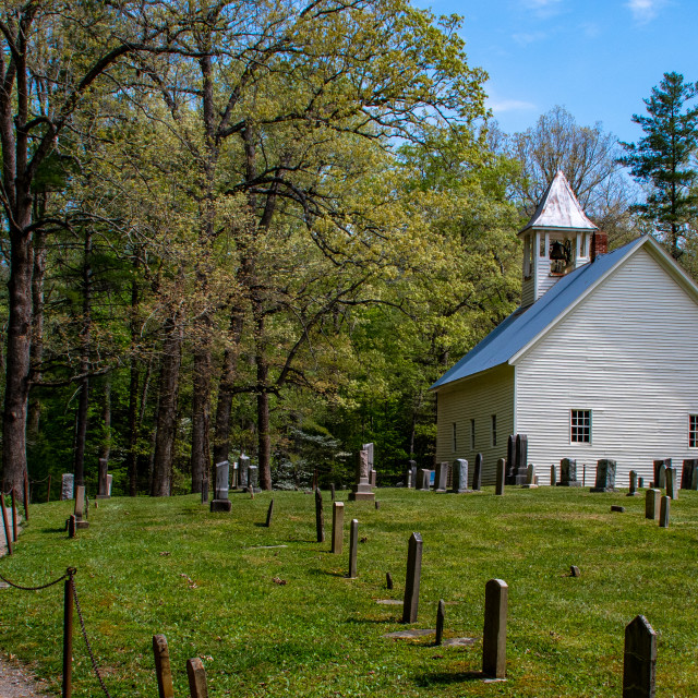 """Primitive Baptist Church Cemetery"" stock image"