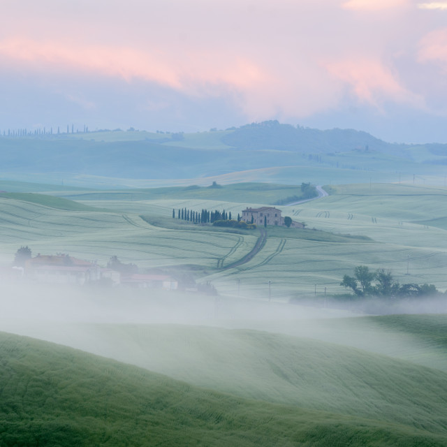 """""""The beauty of the Val d'Orcia in Tuscany , Italy."""" stock image"""