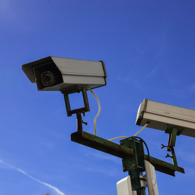 """""""security camera and urban video"""" stock image"""