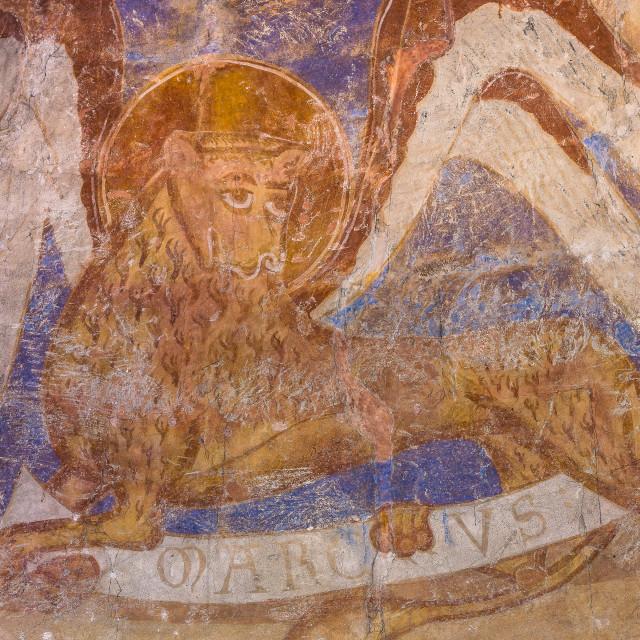 """Lion, symbol of the evangelist Mark"" stock image"