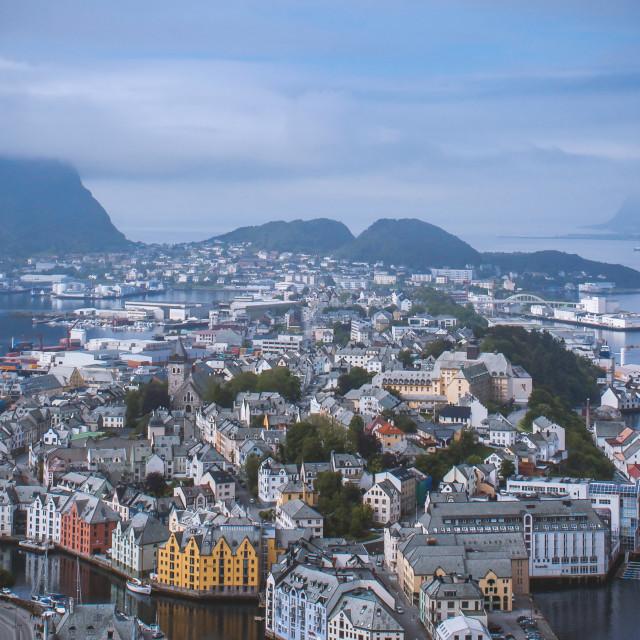 """""""City of Ålesund"""" stock image"""