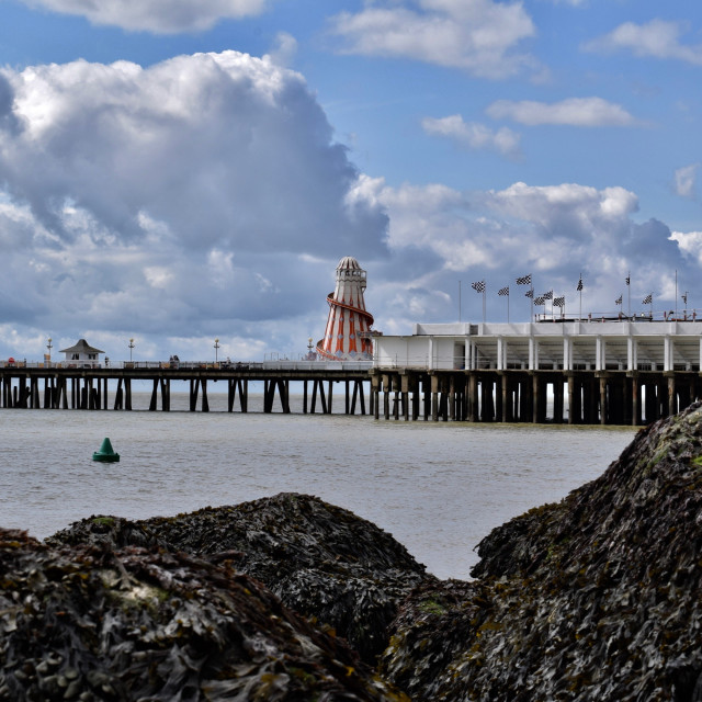 """Helter Skelter on Clacton on sea Pier"" stock image"