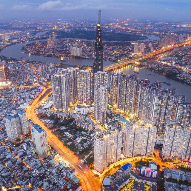 """Vinhomes Central Park Ho Chi Minh City"" stock image"