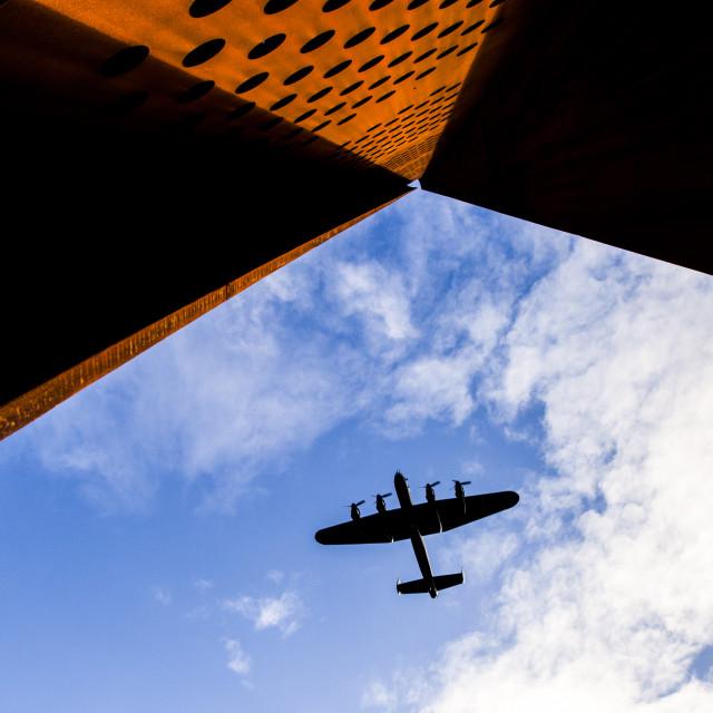 """RAF Lancaster"" stock image"