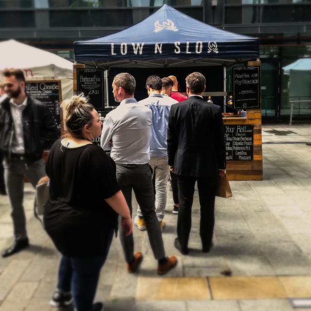 """Street food market, Bristol"" stock image"