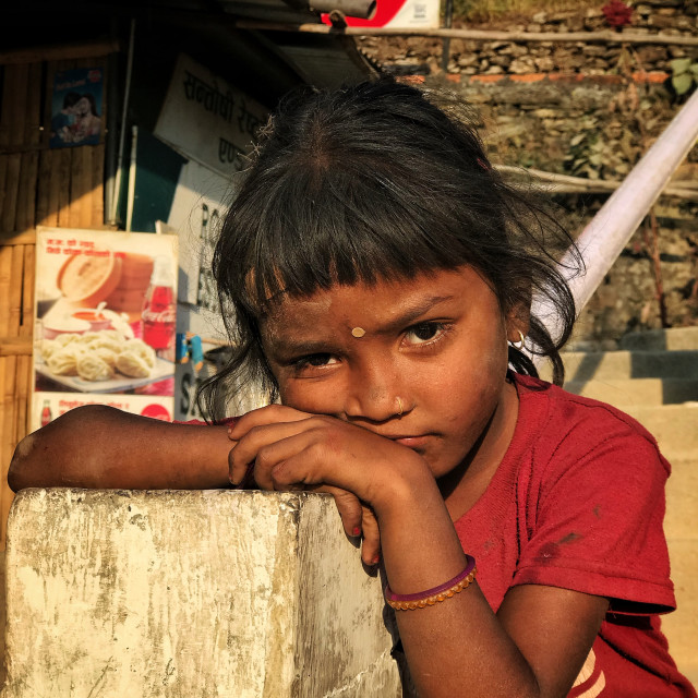 """Little girl from Nepal"" stock image"