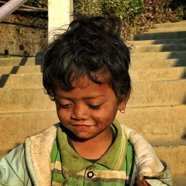 """Boy from Bagmati, Nepal"" stock image"