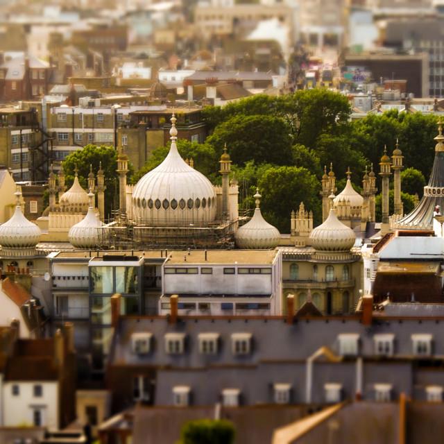 """""""Brighton pavilion (aerial)"""" stock image"""