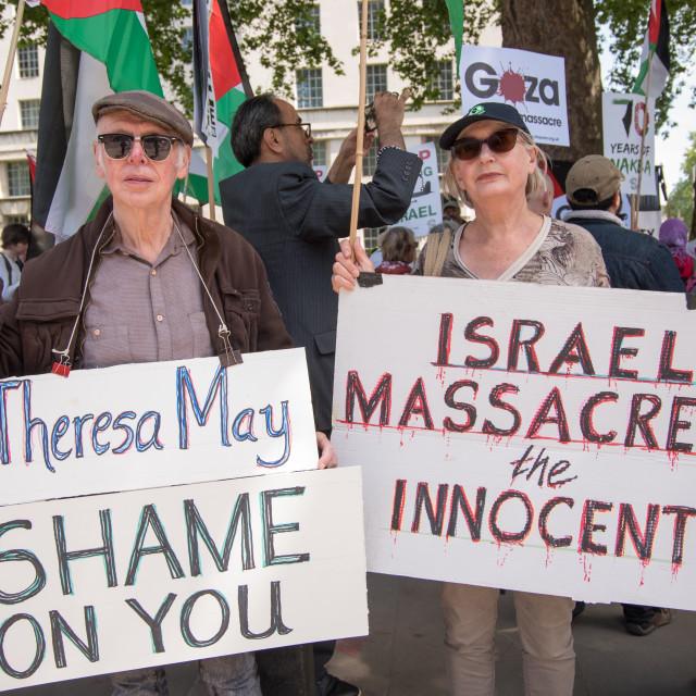 """Protest Netanyahu in London"" stock image"