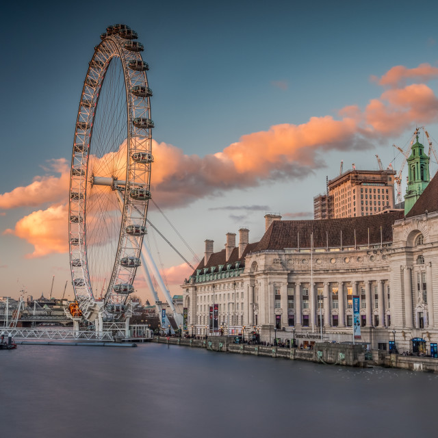 """Stray cloud by the South Bank"" stock image"