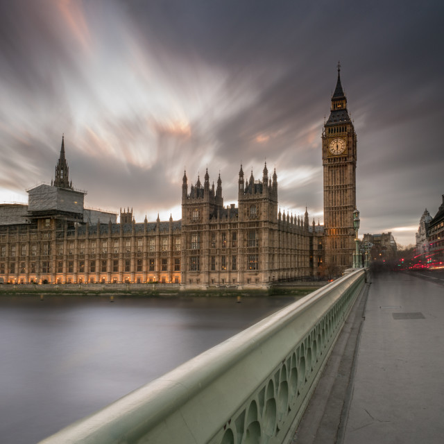 """On Westminster Bridge"" stock image"
