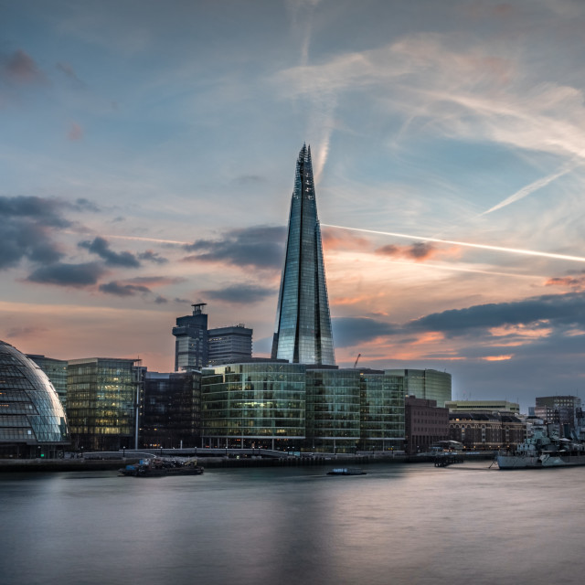 """London CityHall & the Shard"" stock image"