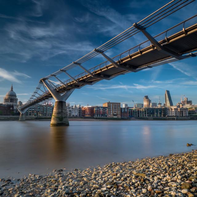 """""""Underneath Millenium Bridge"""" stock image"""
