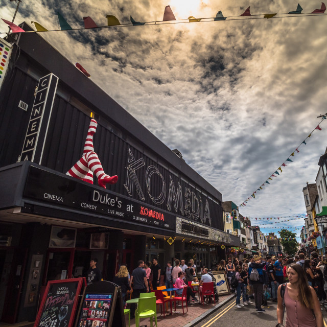 """Komedia in the North Laine"" stock image"