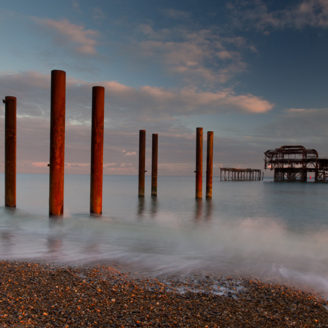 """West Pier Iron"" stock image"