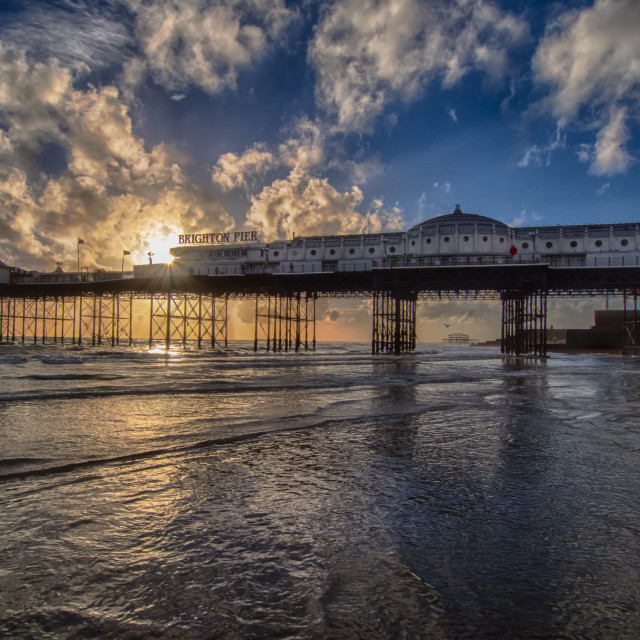 """Palace pier with added sun"" stock image"