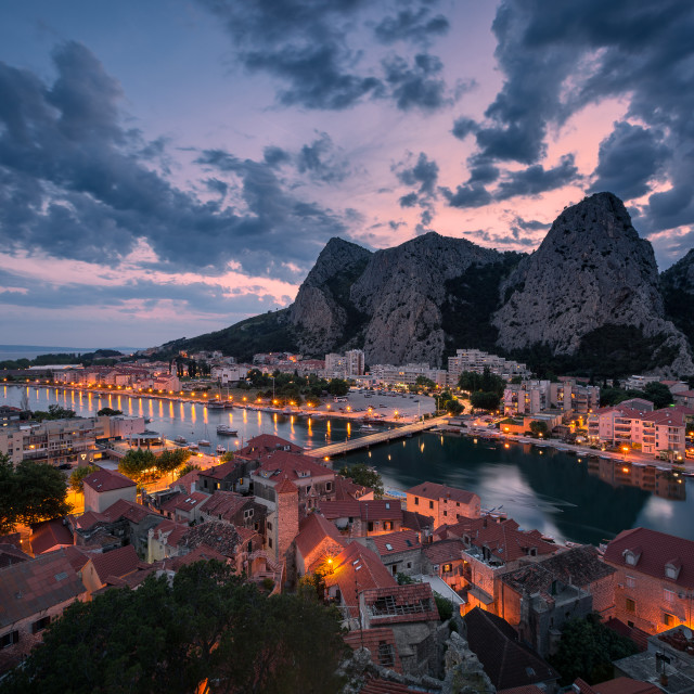 """A dramatic post sunset in Dalmatia, Croatia"" stock image"
