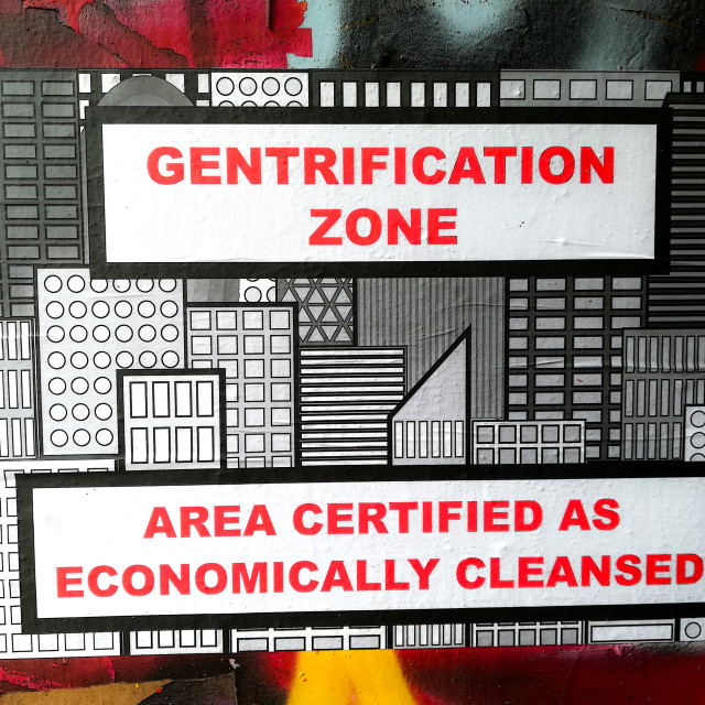 """Gentrification Zone"" stock image"