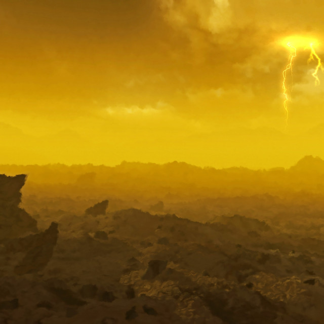 """Surface of Venus, illustration"" stock image"