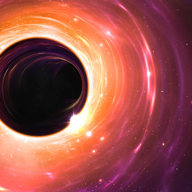 """Black hole, illustration"" stock image"